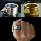 Outdoor Women Stainless Steel Ring Self-defense Survival Tool Gold/Silver