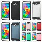 Metal Brush Hybrid Case Cover For Samsung Galaxy Core Prime Prevail/Grand Prime
