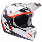 LAZER SMX WHIP WHITE ORANGE BLACK MX MOTOCROSS MOTORCYCLE HELMET