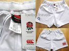S M L XL XXL 3XL ENGLAND RUGBY HOME SHORTS Canterbury of New Zealand WHITE2014