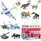DAVIDTOY INOQ MOVING 3D KIT  PLASTIC 3D PUZZLE - KING TIGER/ TYRANNOSAURUS/ BUS