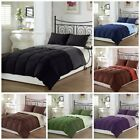black comforter sets queen - Chezmoi Collection Super Soft Goose Down Alternative Reversible Comforter Set