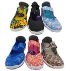 Ladies Shoes Multi Wild Sole Lagoon Slip On Elastic Mary Jane Casual  Size 6-10