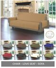 Внешний вид - Quilted Microfiber Pet Dog Couch Sofa Furniture Protector Cover w/ Tucks & Strap