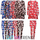 Girls Christmas Dresses Leggings Teens Snowman Rudolph Santa Swing Dress Top