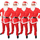 SANTA CLAUS (4 PACK) FANCY DRESS COSTUME 5 PIECE BARGAIN FATHER CHRISTMAS SUIT