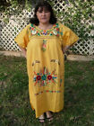 5XL Plus Size Peasant Boho Tunic Hand Embroidered Mexican Dress Puebla Assorted