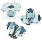 M5 x 8mm A2 STAINLESS TEE NUTS, DRIVE IN, FOUR 4 PRONGED, CAPTIVE T NUT (AF9)