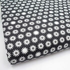 BLACK - SLEEPY DAISY GEOMETREIC 100% COTTON FABRIC 160cm OEKO-TEX