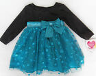 NWT: New Youngland Blue Green & Black Holiday Dress 18 mos Rtls. 50.00