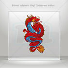 Decal Sticker Dragon Helmet Motorbike Bikes polymeric vinyl Garage mtv WRS63