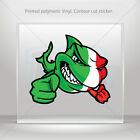 Decals Decal Italy Scuba Flag Shark Car Motorbike Bike vinyl bike mtv ZZ49X