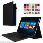 Microsoft Surface Tablet  Leather Case Cover w/ Keyboard Stand Stylus Holder