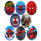 Marvel Comics Ultimate Spiderman Oval Patches Woven Iron / Sew On Motif Applique
