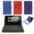 FOLIO KEYBOARD CASE COVER & SCREEN PROTECTOR FOR AMAZON FIRE 7 (5th Gen. 2015)