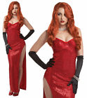 JESSICA RABBIT COSTUME LADIES SILVER SCREEN SINSATION 20s FANCY DRESS  OUTFIT