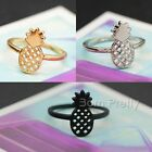 Hollow-out Alloy Rings  Pineapple Design Cute Delicate Girl Jewelry Decoration