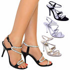 Sandalen High Heels Damen Party Ball Abend Braut Brautjungfer