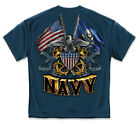 United States Navy T Shirt The Sea Is Ours Seals USN American Flag Military