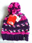 THE NORTH FACE Hand Knit BOBBLE BEANIE Black TUQUE Hat TAGS One Size Mens Womens
