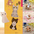 2xCute Cat Kawaii Kitty House Adhesive Sticky Notes Memo Pad Stationery Bookmark