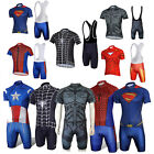 Marvel Superheros Batman Costume The Avengers Cycling Jersey+Pant or Bib Shorts