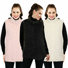 Womens Faux Fur Gilet Ladies Luxuriously Soft High Neck Sleevless Body Warmer
