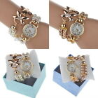 Luxury Pearl Bracelet Quartz Watches Womens New Casual Watch Wristwatches Gift