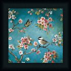 Blossom II Lisa Audit Cherry Tree Chickadee Framed Art Print Picture Wall Decor