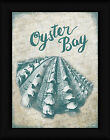 Oyster Bay Sydney Wright 16x12 Teal Shell Sign Framed Art Print Picture