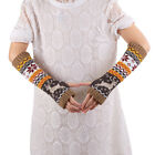 Womens Fingerless Knitted Arm Gloves Warmer Winter Comfortable Gloves Xmas Gifts
