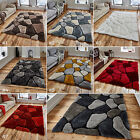 LARGE THICK SOFT 3D TEXTURED PILE PEBBLE STEPPING STONES NOBLE HOUSE RUG NH5858