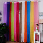 Hot Sheer Valances Colors Floral Tulle Voile Door HO Window Curtain Drape Panel