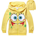 Children Kids Boy Girl Spongebob Zipper Hoodie Clothing TOP Jumper Coat