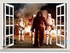 STAR WARS the Force Awakens 3D Window Wall Sticker Boy Decals Party Decor Gifts
