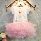 New Girls Frozen Princess  Elsa Tutu Party Dress Costume size 9M-4yrs
