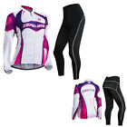 Cycling Bike Women Bicycle Long Sleeve Clothing Suit Jersey&Pants Set Quick-Dry
