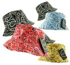 2 in 1 REVERSIBLE BANDANA PAISLEY BUCKET BUSH FISHERMAN HAT