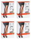 4 Pairs Just My Size Pantyhose Shaper with Silky Leg 3XL-4XL - Lot 1 -