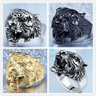 Fashion Man's Stainless Steel ring Tiger head Titanium steel Rings A307