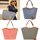 Fashion Stripe Single Shoulder Canvas Bag Women Handbag YS