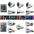 16 Color Change RGB Magic LED Spot Light Bulb MR16 E14 E27 GU10 B22 GU53 3W Lamp