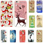 Christmas Santa Claus iPhone TPU Case Cover Skin For iPhone 6 6S 6 6 6S Plus LXJ