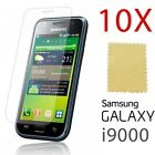 10 Pack X LCD Guard Screen Protector Film for Samsung i9000 Galaxy S