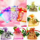 100Pcs Drawstring Organza Bag Jewellery Pouch Wedding Candy Gift Packaging Bag