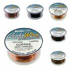 6 Colors BeadSmith Copper Craft Wire Non Tarnish