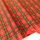 Red Tartan Christmas Fabric 100 % cotton  per 1/2 mtr or per FQ Rose & Hubble