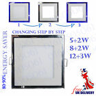 LED Recessed Ceiling Panel Flat Down Lights Bulb Square White and Blue colour