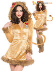 Adults Sexy Lion Costume Ladies Lioness Animal Fancy Dress Circus Jungle Outfit
