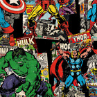 Sale Marvel Super Hero Comic Book Character Toss 100% Cotton Patchwork Fabric